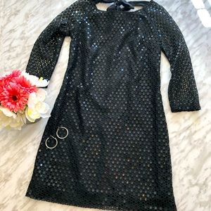 Lilly Pulitzer Aaliyah Black Sequin Dress Size 6
